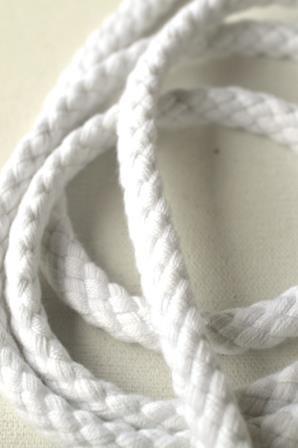 Flechtkordel, 8 mm, weiß