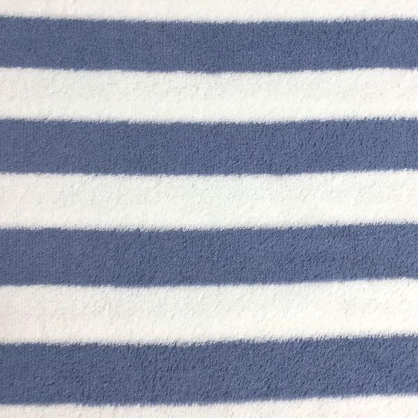 Frottee, weiß-blau gestreift