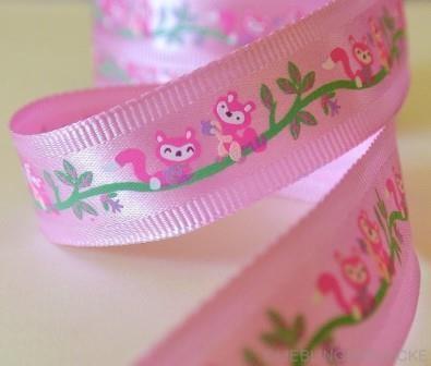 Eichhörnchen, rosa, Ripsband *SALE*