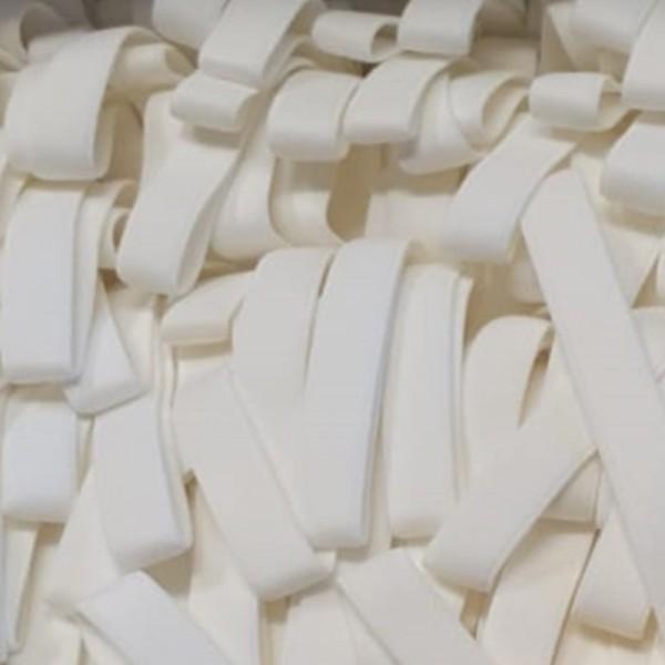 Einziehgummi extraweich weiß, 10 mm