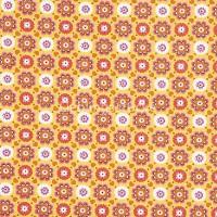 Hilco Hilde Blumen gelb-orange, Popeline