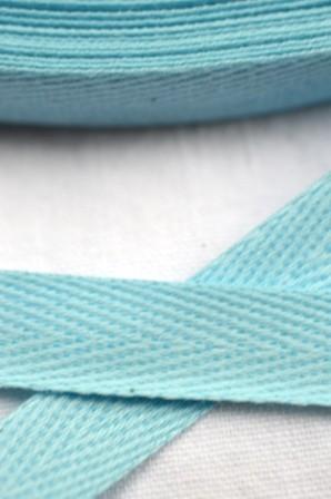 Köperband, 10 mm, hellblau