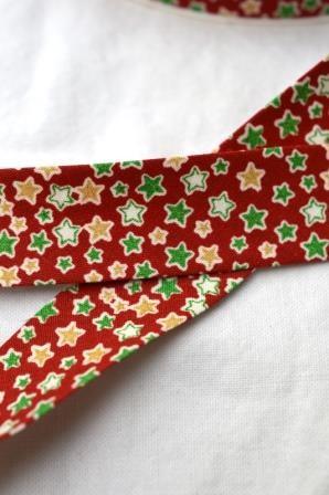 Schrägband, Weihnachten, Sterne, rot