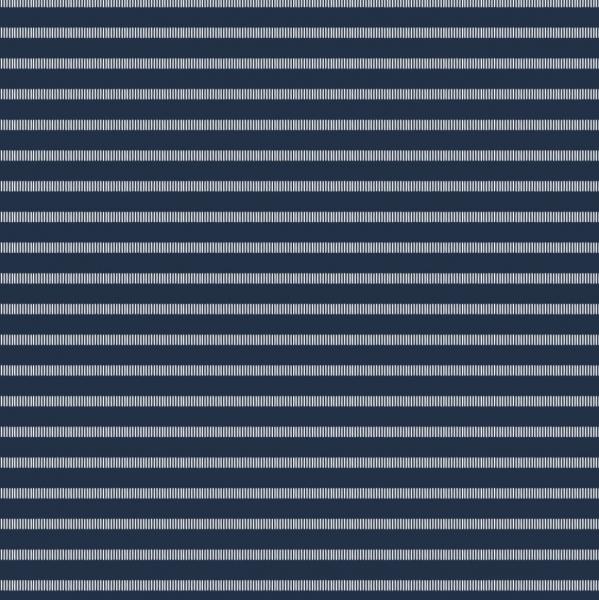 Maritim Streifenjersey, weiß auf dunkelblau