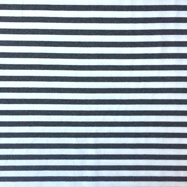 Sweat, Stripes Yarn Dyed dunkelgrau