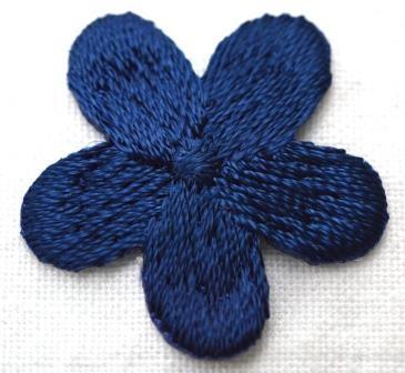 Applikation Blümchen, dunkelblau