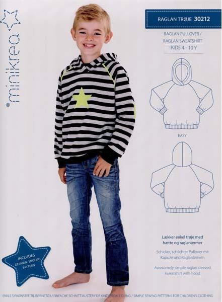 Minikrea Raglan Sweatshirt 30212, Schnittmuster