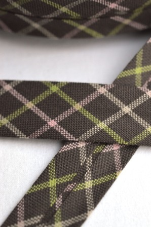 Westfalen Schrägband, karo braun-grün-rosa
