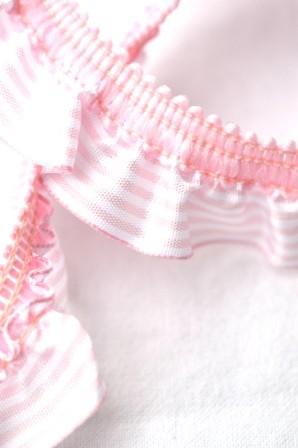 Streifenrüsche, quer, rosa