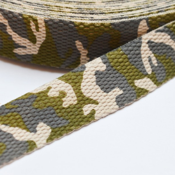 Gurtband Camouflage, khaki