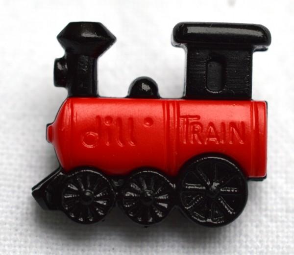 Lokomotive, rot, Knopf