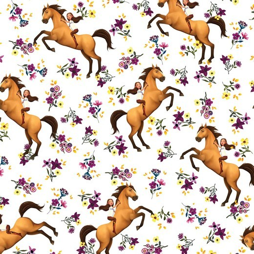 Digitaldruck, Horse Spirit&Girl auf weiß, Jersey