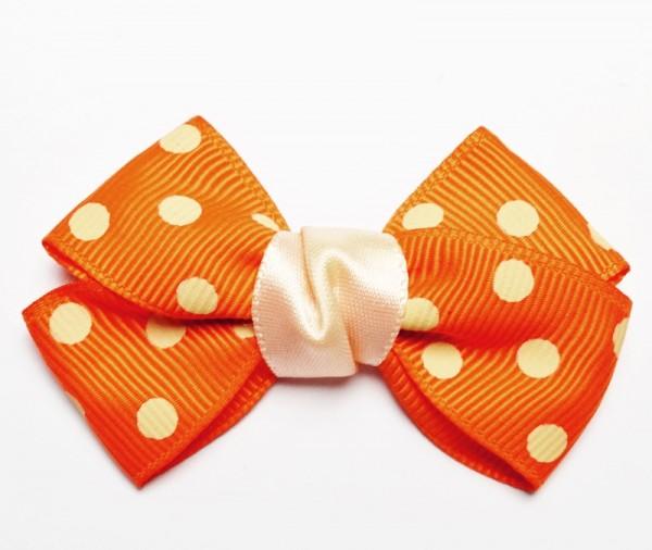 Mascherl mit Punkten, orange, groß