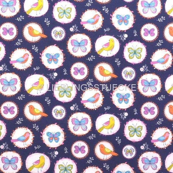 Ophelia dunkelblau, Webstoff