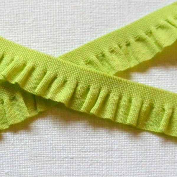 Rüschenband schmal, hellgrün
