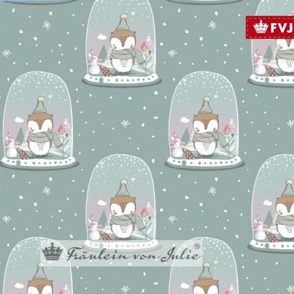 Fräulein von Julie, Winterdreams auf mint, Jersey, *Letztes Stück ca. 80 cm*