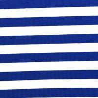 Alberto Bio-Jersey Streifen mittelblau/weiß