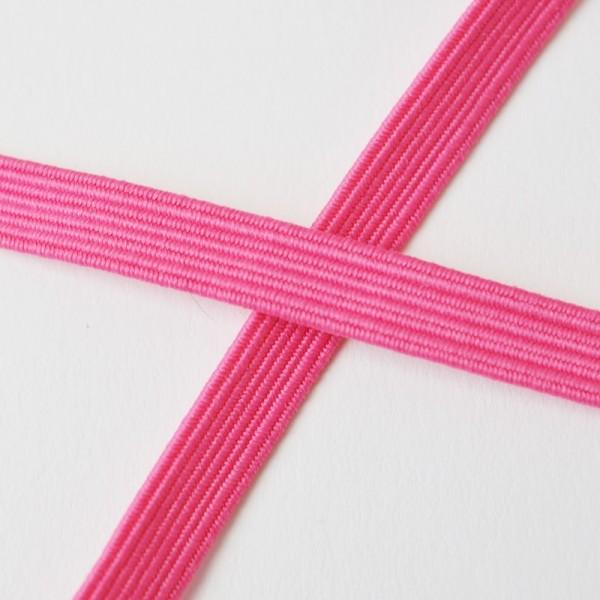 Flachgummi, pink, 6,5 mm