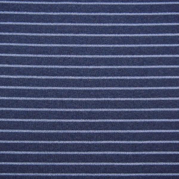 Melange Lurex Stripes dunkelblau, Jersey