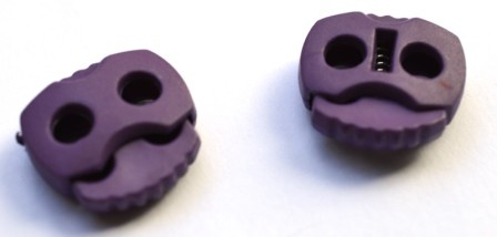 Kordelstopper, 2 löchrig, violett