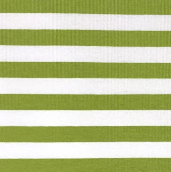 Alberto Bio-Jersey Streifen lime/weiß
