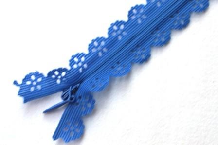 Zierreißverschluss, blau *SALE*