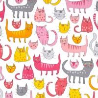 R. Kaufman, Doodle Pop, Katzen pink