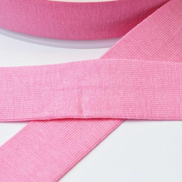 Viskosejersey-Schrägband, rosa