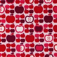 Cosmo Retro Äpfel pink, Webstoff