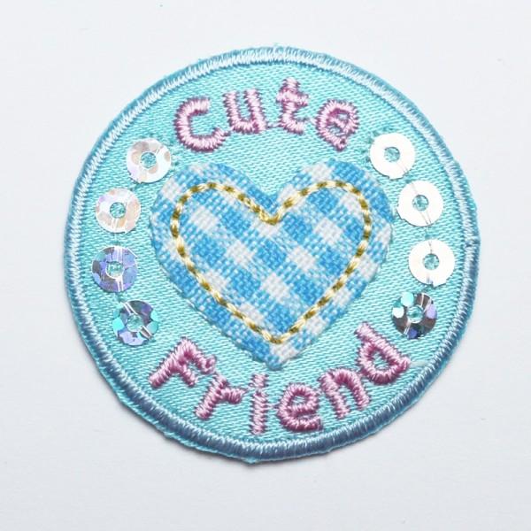 Applikation Cute Friend, blau