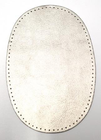 Patch Kunstleder, silber