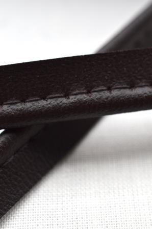 Kunstlederpaspel, dunkelbraun