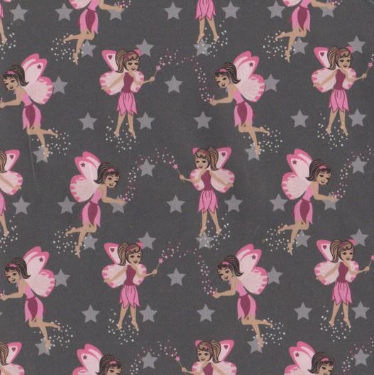 Hilco Magic Fairy, Feen dunkelgrau/rosa, Jersey, *Letztes Stück ca. 70 cm*