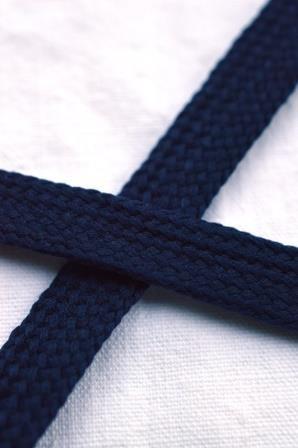 flache Kordel, dunkelblau