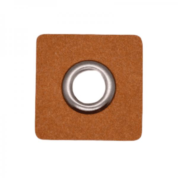 SnapPap Ösenpatch, Quadrat, graumetallic