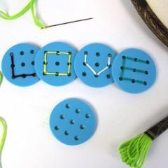 Buchstabenknopf, blau *SALE*