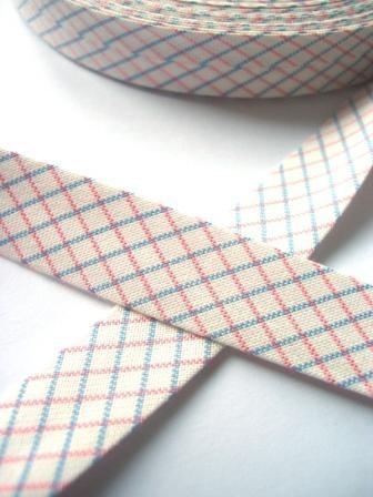 Westfalen Schrägband, karo weiß-rosa-hellblau