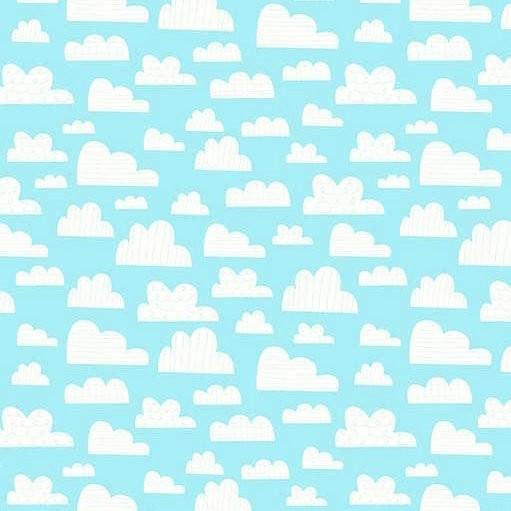 On The Go, Wolken auf hellblau, Webstoff