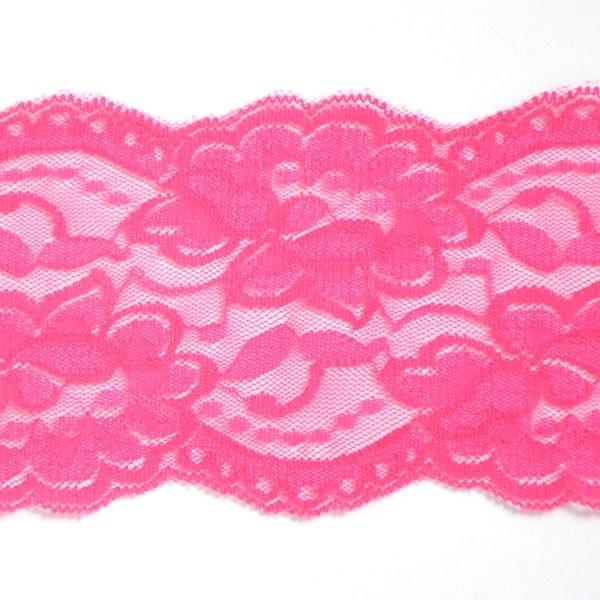 breite elastische Spitze, pink