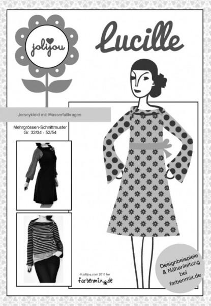 LUCILLE, Jerseykleid mit Wasserfallkragen, FM-Schnittmuster