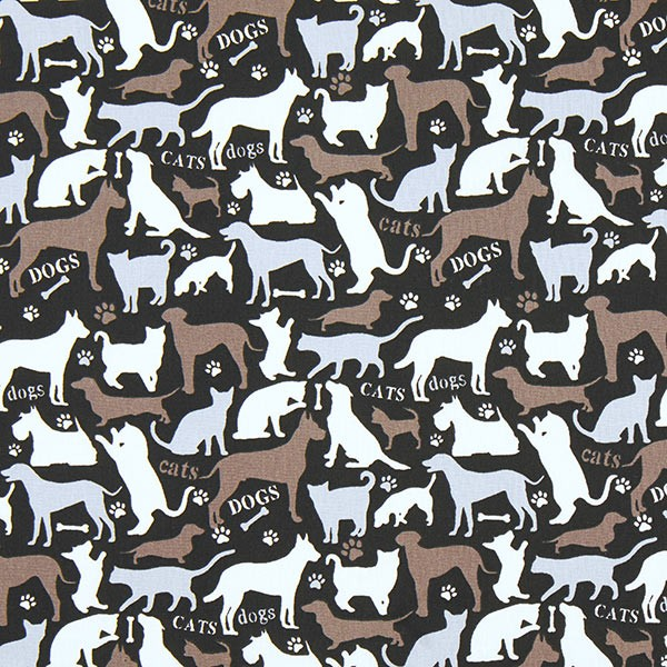 Dogcat schwarz-braun, Webstoff