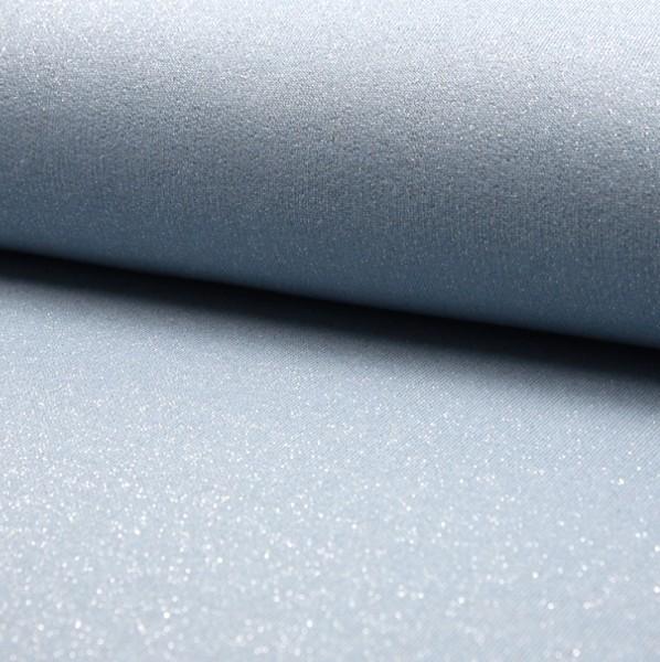 Shiny Glitzersweat hellblau-melange