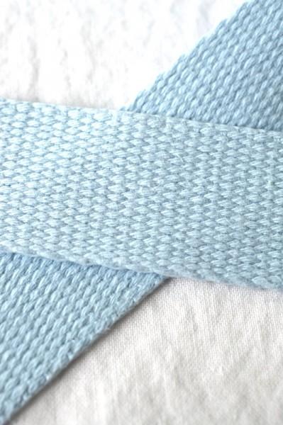 Baumwollgurtband, himmelblau, 3 cm