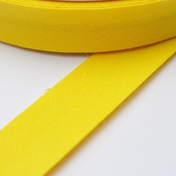 Schrägband, 20 mm, gelb