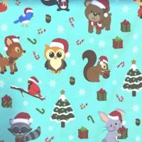 Digitaldruck Weihnachtstiere mint, Jersey