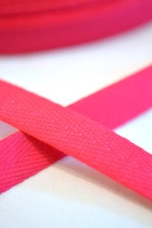 Köperband, 10 mm, pink