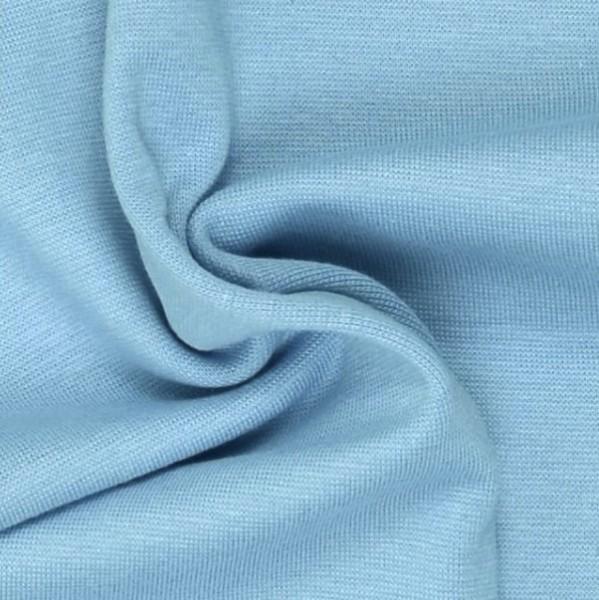 Glattes Bündchen hellblau