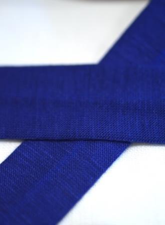 Viskosejersey-Schrägband, royalblau