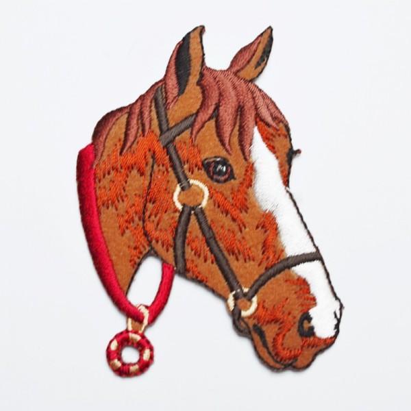 Applikation Pferdekopf, braun