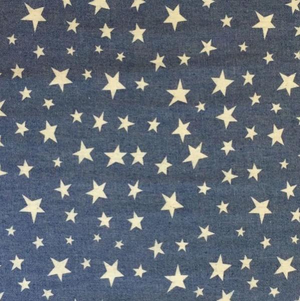 Sommerjeans dunkelblau mit unregelmäßigen Sternen